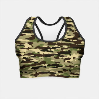 Thumbnail image of Camouflage Pattern Crop Top, Live Heroes