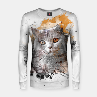 Thumbnail image of cat art #cat #kitty Bluza damska, Live Heroes