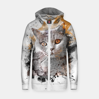 Miniature de image de cat art #cat #kitty Bluza z zamkiem, Live Heroes