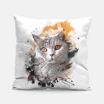 Thumbnail image of cat art #cat #kitty Poduszka, Live Heroes