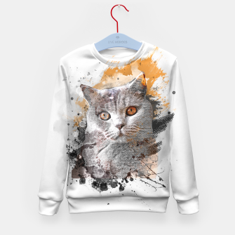Thumbnail image of cat art #cat #kitty Bluza dziecięca, Live Heroes