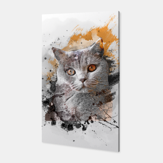 Thumbnail image of cat art #cat #kitty Canvas, Live Heroes