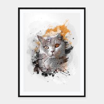 Thumbnail image of cat art #cat #kitty Plakaty w ramie , Live Heroes