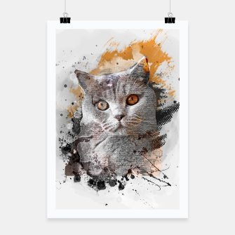 Thumbnail image of cat art #cat #kitty Plakat, Live Heroes