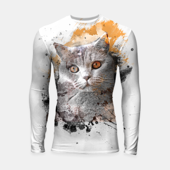 Thumbnail image of cat art #cat #kitty Rashguard długi rękaw, Live Heroes