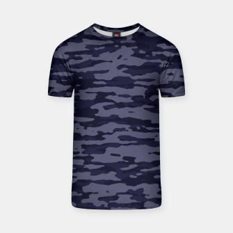 Thumbnail image of Dark Blue Camouflage Pattern  T-Shirt, Live Heroes