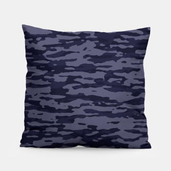 Thumbnail image of Dark Blue Camouflage Pattern  Kissen, Live Heroes