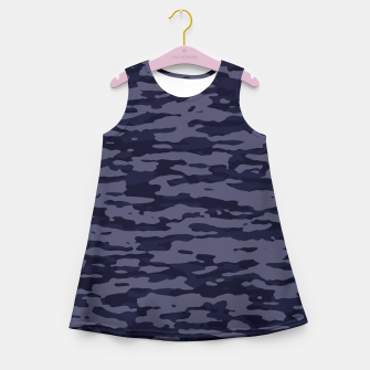 Thumbnail image of Dark Blue Camouflage Pattern  Mädchen-Sommerkleid, Live Heroes