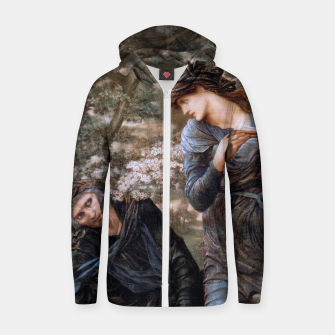 The Beguiling of Merlin by Edward Burne-Jones Zip up hoodie thumbnail image