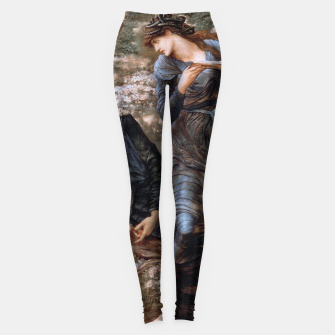 Thumbnail image of The Beguiling of Merlin by Edward Burne-Jones Leggings, Live Heroes