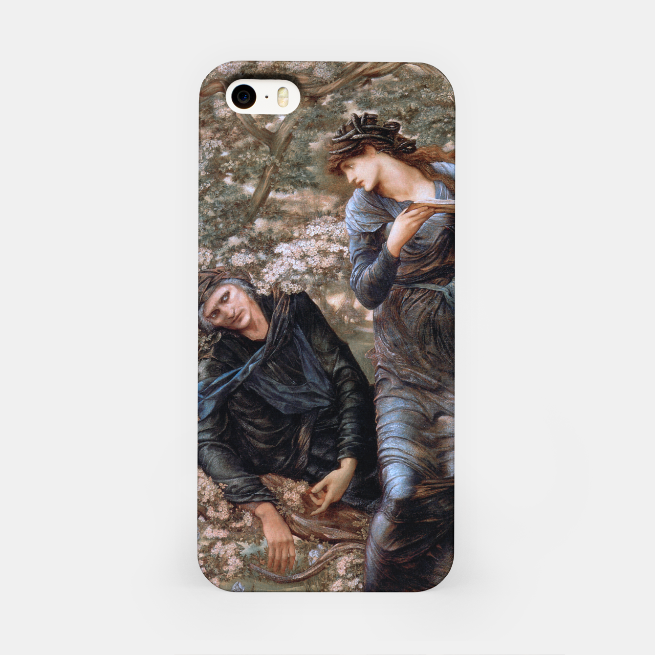 Image of The Beguiling of Merlin by Edward Burne-Jones iPhone Case - Live Heroes