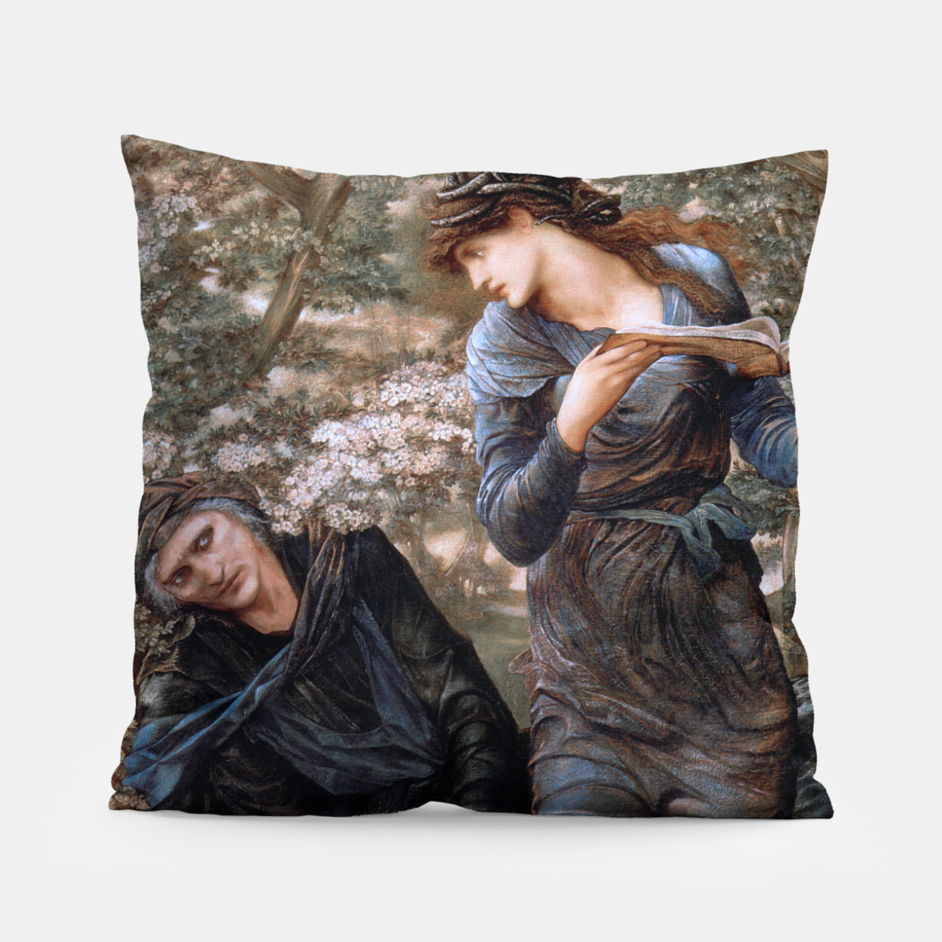 Image of The Beguiling of Merlin by Edward Burne-Jones Pillow - Live Heroes