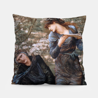 The Beguiling of Merlin by Edward Burne-Jones Pillow thumbnail image