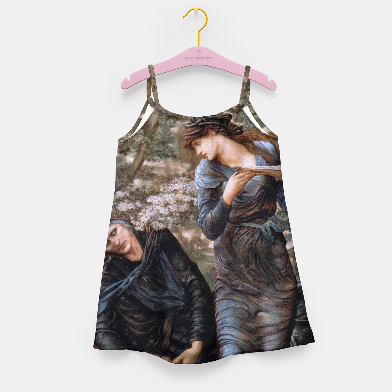 Image of The Beguiling of Merlin by Edward Burne-Jones Girl's dress - Live Heroes