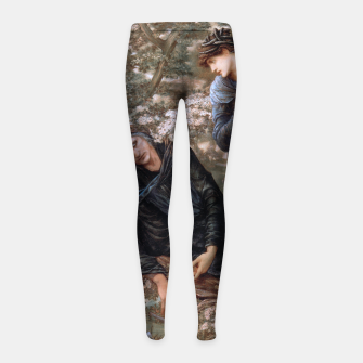 The Beguiling of Merlin by Edward Burne-Jones Girl's leggings thumbnail image