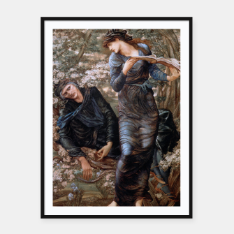 Thumbnail image of The Beguiling of Merlin by Edward Burne-Jones Framed poster, Live Heroes