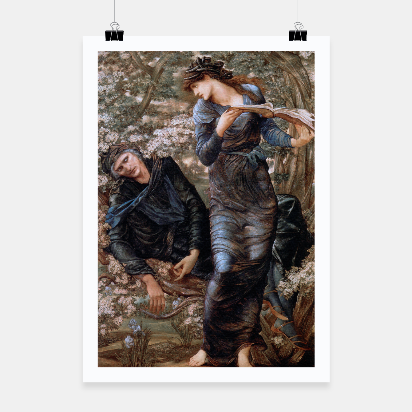 Image of The Beguiling of Merlin by Edward Burne-Jones Poster - Live Heroes