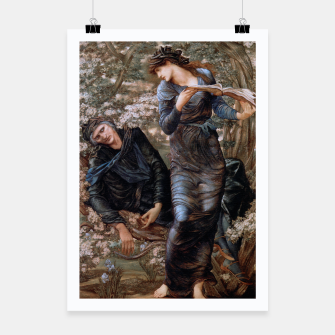 Thumbnail image of The Beguiling of Merlin by Edward Burne-Jones Poster, Live Heroes