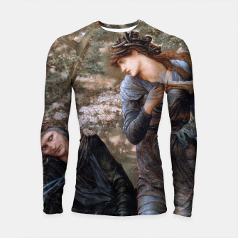 Thumbnail image of The Beguiling of Merlin by Edward Burne-Jones Longsleeve rashguard , Live Heroes