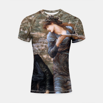 Thumbnail image of The Beguiling of Merlin by Edward Burne-Jones Shortsleeve rashguard, Live Heroes