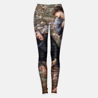 The Beguiling of Merlin by Edward Burne-Jones Leggings thumbnail image