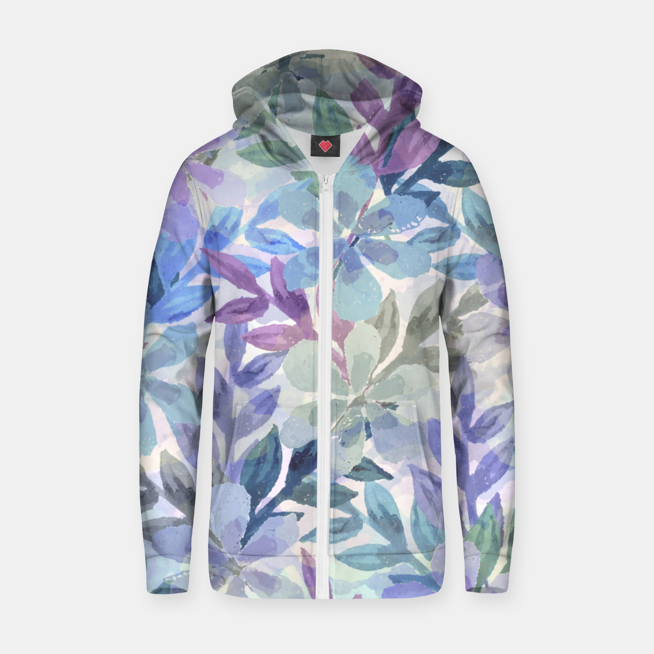 Imagen de watercolor Botanical garden Zip up hoodie - Live Heroes