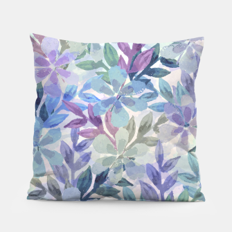 Miniatur watercolor Botanical garden Pillow, Live Heroes