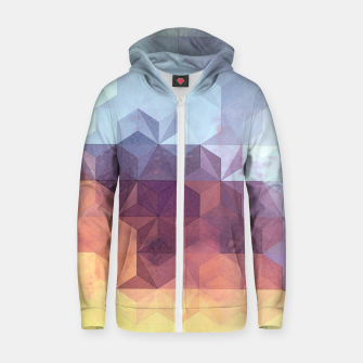 Abstract Geometric Background LII Zip up hoodie imagen en miniatura