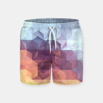 Abstract Geometric Background LII Swim Shorts imagen en miniatura