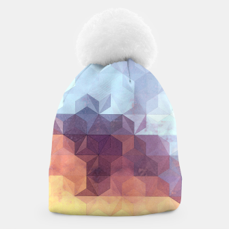 Abstract Geometric Background LII Beanie imagen en miniatura