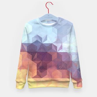 Abstract Geometric Background LII Kid's sweater imagen en miniatura