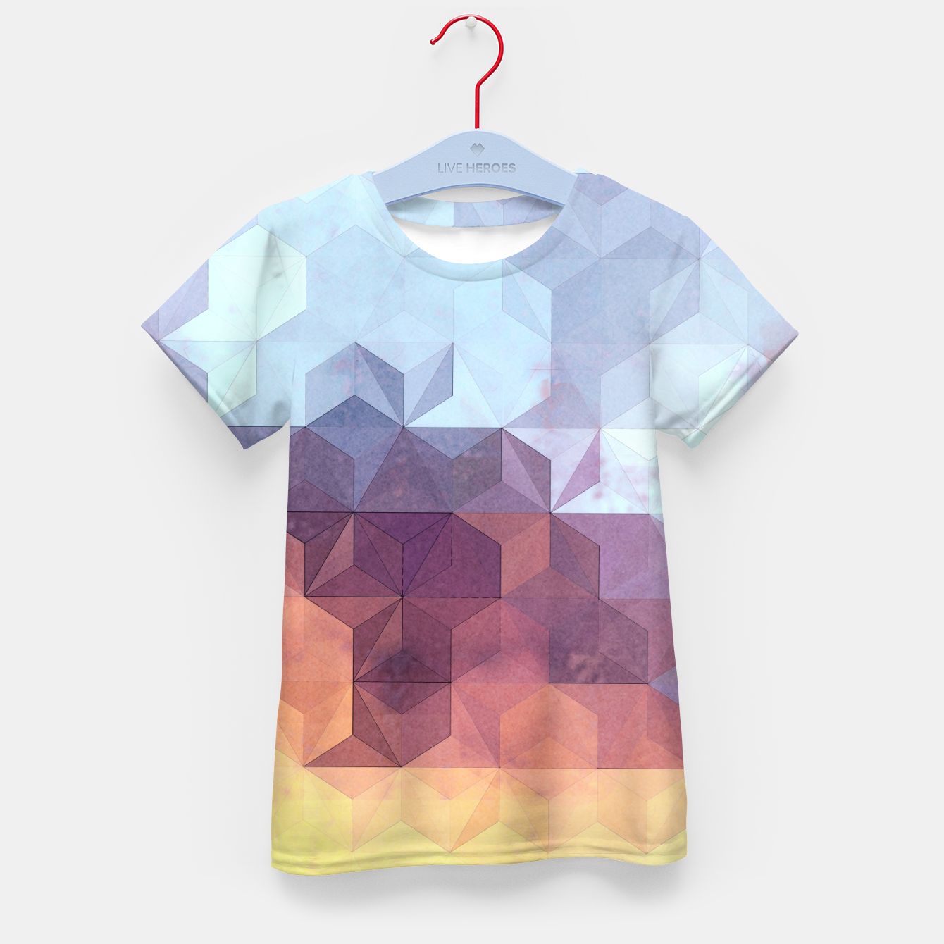Imagen de Abstract Geometric Background LII Kid's t-shirt - Live Heroes