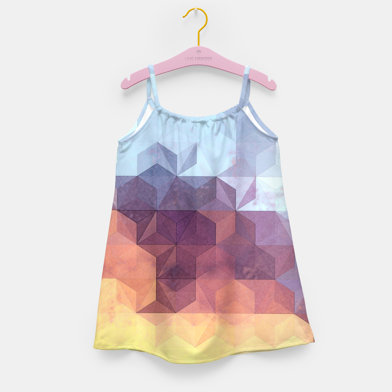 Imagen de Abstract Geometric Background LII Girl's dress - Live Heroes