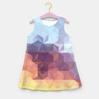 Abstract Geometric Background LII Girl's summer dress imagen en miniatura