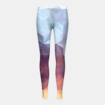 Abstract Geometric Background LII Girl's leggings imagen en miniatura