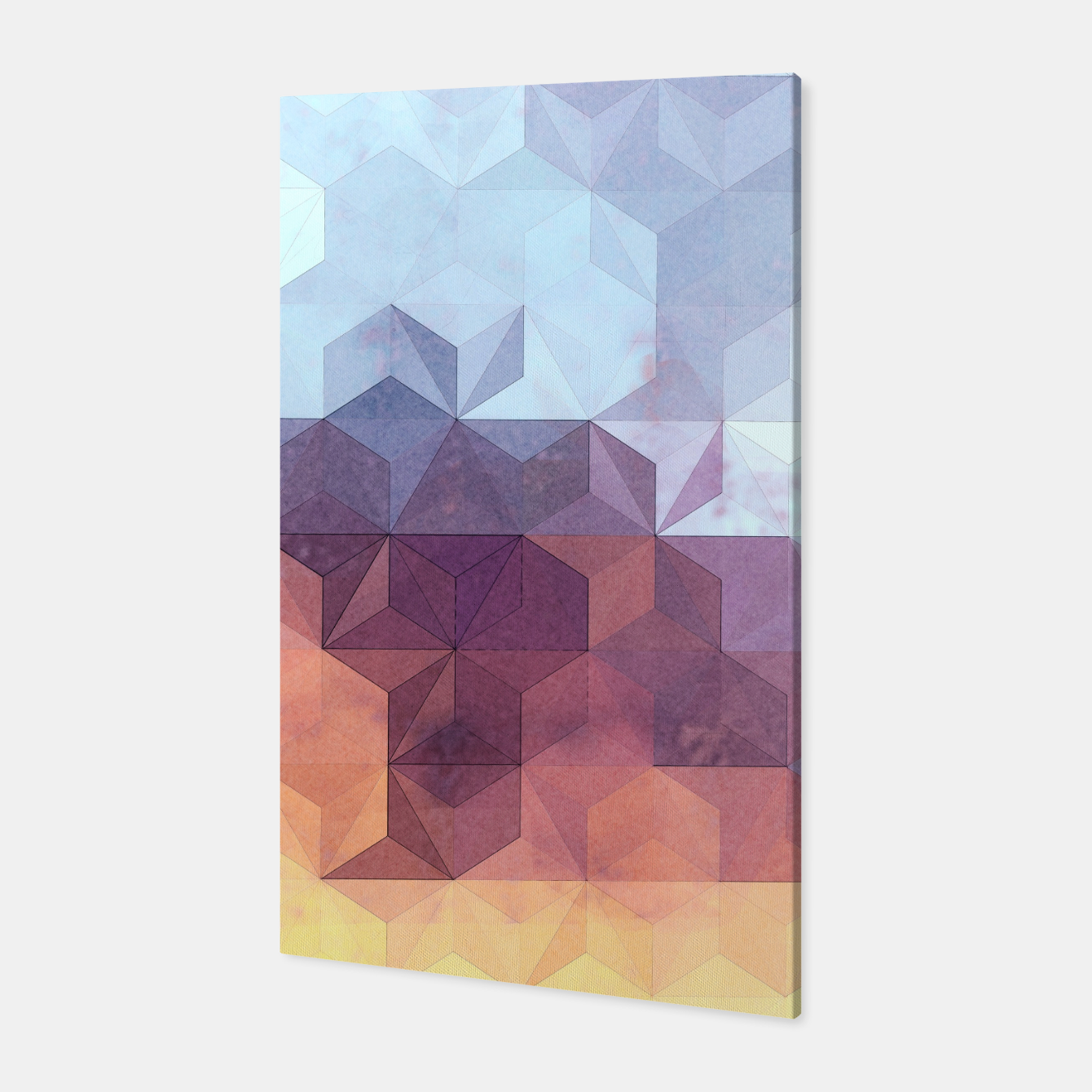 Imagen de Abstract Geometric Background LII Canvas - Live Heroes
