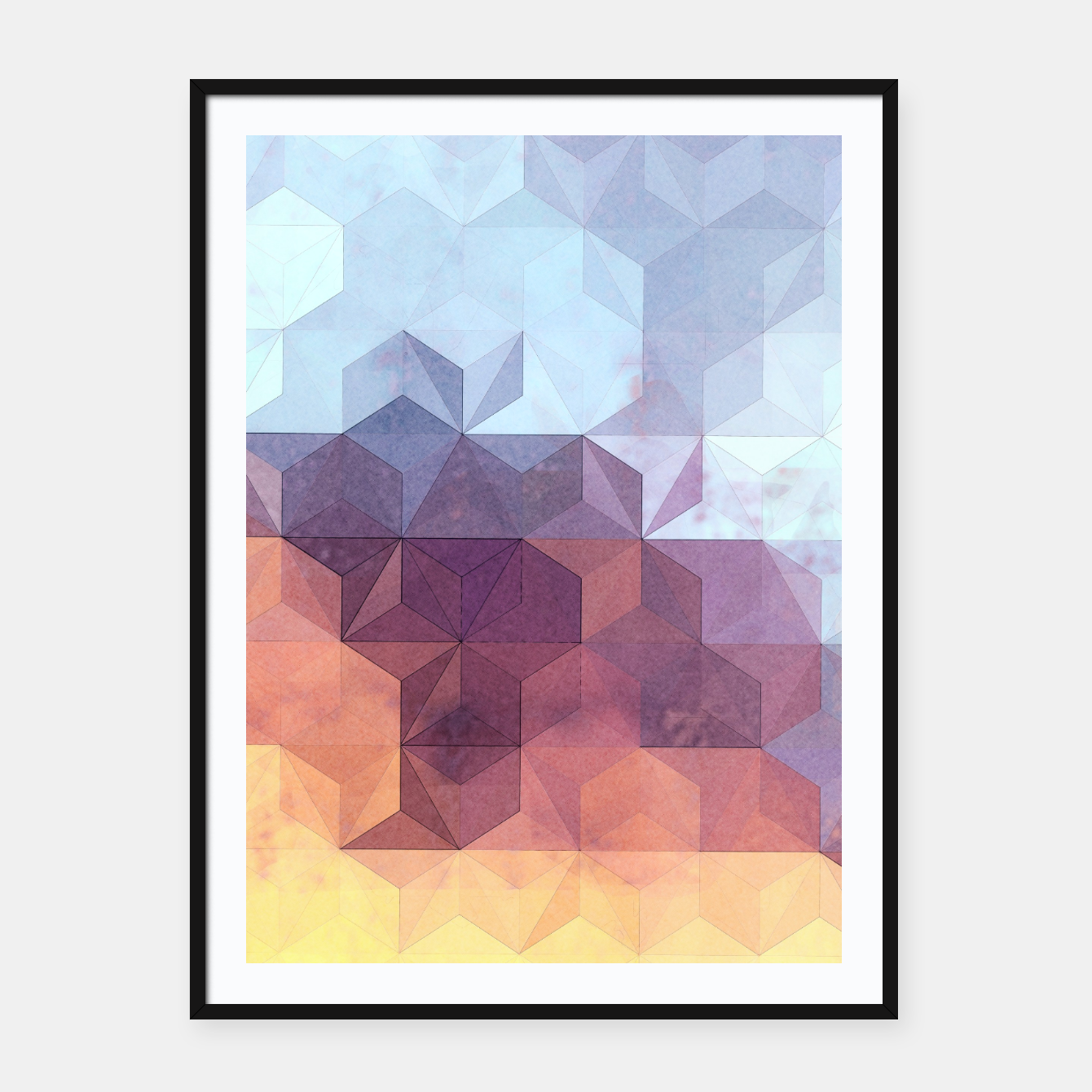 Imagen de Abstract Geometric Background LII Framed poster - Live Heroes