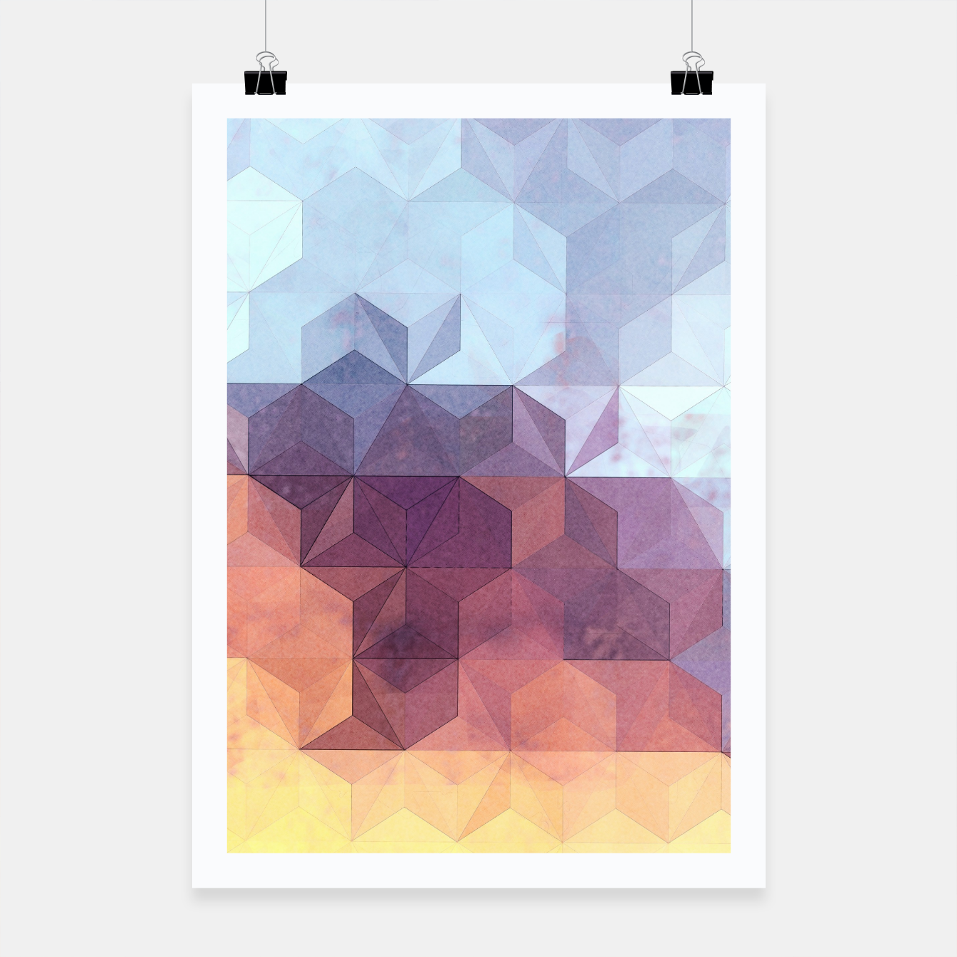 Imagen de Abstract Geometric Background LII Poster - Live Heroes