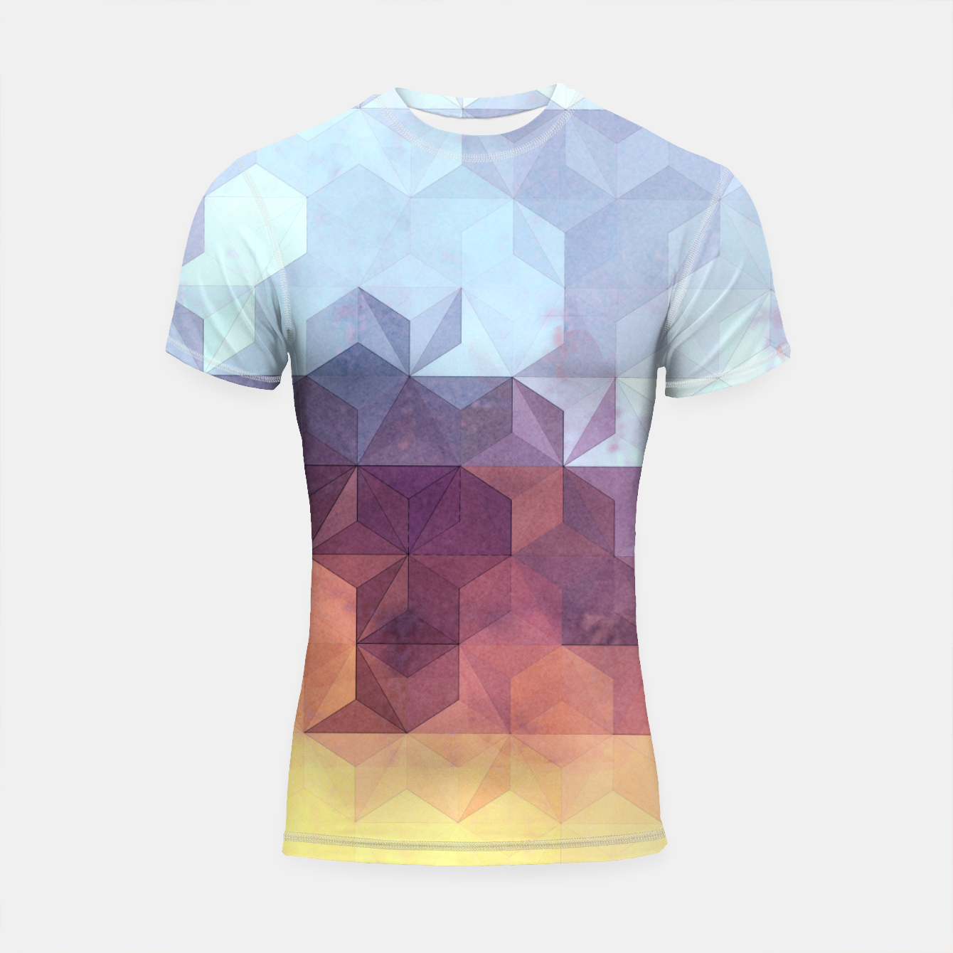 Imagen de Abstract Geometric Background LII Shortsleeve rashguard - Live Heroes
