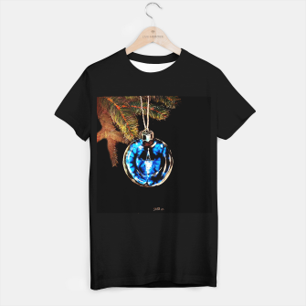 xmas & new year series christmas tree in black and blue yulia a korneva T-shirt regular thumbnail image