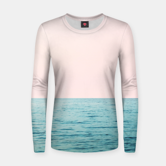Thumbnail image of Blissful Ocean #1 #wall #decor #art  Frauen sweatshirt, Live Heroes