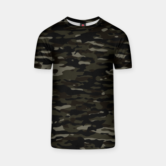 Thumbnail image of Dark Camouflage Pattern T-Shirt, Live Heroes