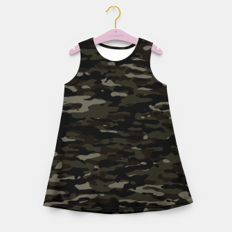 Thumbnail image of Dark Camouflage Pattern Mädchen-Sommerkleid, Live Heroes