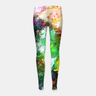 Thumbnail image of Tumbling down Girl's leggings, Live Heroes