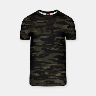 Thumbnail image of Dark Camouflage Pattern Mosaic Style T-Shirt, Live Heroes