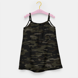 Thumbnail image of Dark Camouflage Pattern Mosaic Style Mädchenkleid, Live Heroes