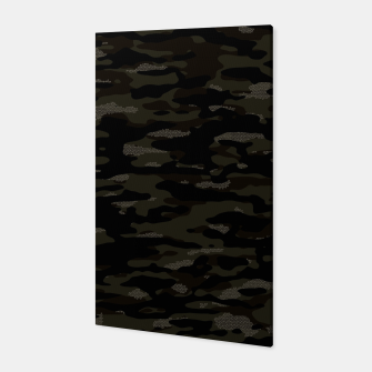 Miniatur Dark Camouflage Pattern Mosaic Style Canvas, Live Heroes