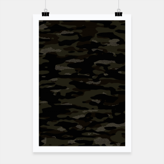 Miniatur Dark Camouflage Pattern Mosaic Style Plakat, Live Heroes