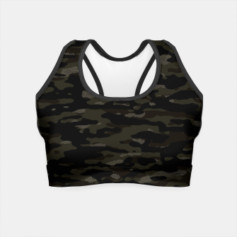 Thumbnail image of Dark Camouflage Pattern Mosaic Style Crop Top, Live Heroes