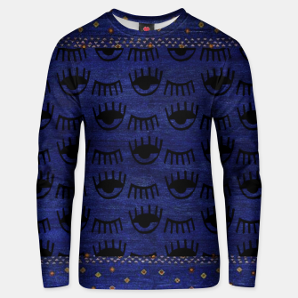 Miniaturka Blue Indigo Moroccan Traditional Artwork Unisex sweater, Live Heroes